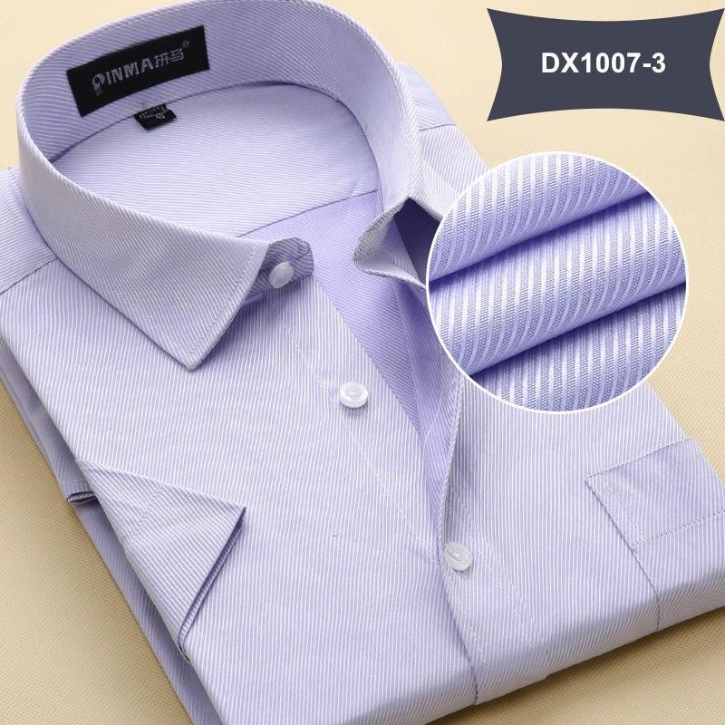 Летняя Стильная мужская одежда, мужская повседневная рубашка с коротким рукавом и отложным воротником, мужские рубашки, одноцветные рубашки для мужчин - Цвет: DX10073