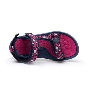 Image 5 - Apakowa Girls 여름 오픈 토우 후크 앤 루프 비치 워킹 스포츠 샌들 아동 워셔블 퀵 드라이 슬링 백 워터 샌들 신발