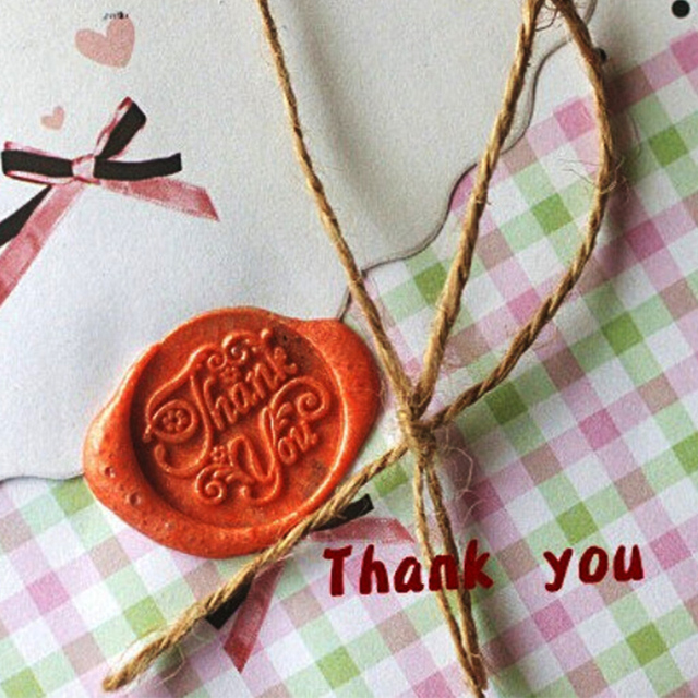 DIY Envelope Seal Stamp Wood Metal Sealing Wax Stamps Vintage Retro Romantic Love Thank You Miss you Good Luck For You