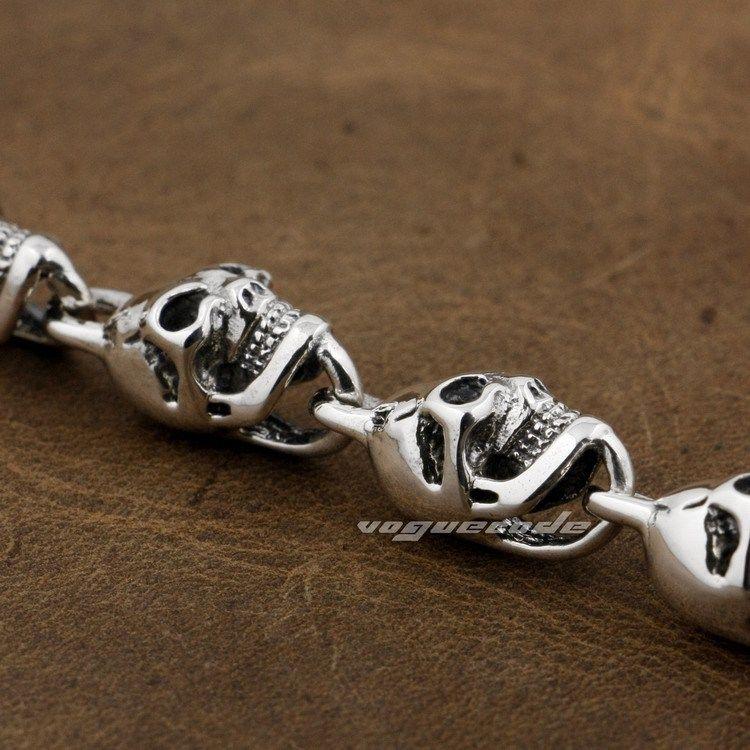 925 ստերլինգ արծաթյա գանգեր - Նորաձև զարդեր - Լուսանկար 6