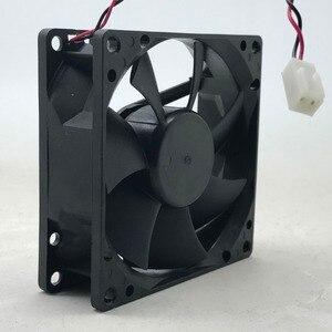 Image 4 - Dla AVC 8025 80mm x 80mm x 25mm DL08025R12U łożysko hydrauliczne chłodnica wentylator 12V 0.50A 2 drutu 2Pin złącze