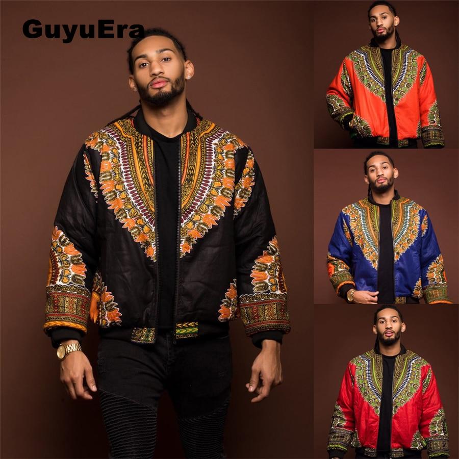 GuyuEra Hot Sale Africa Men\`s Dashiki Style Couple Wear Vintage Ethnic Men\`s Dashiki Jacket African Print Jacket Plus size S-XL (1)