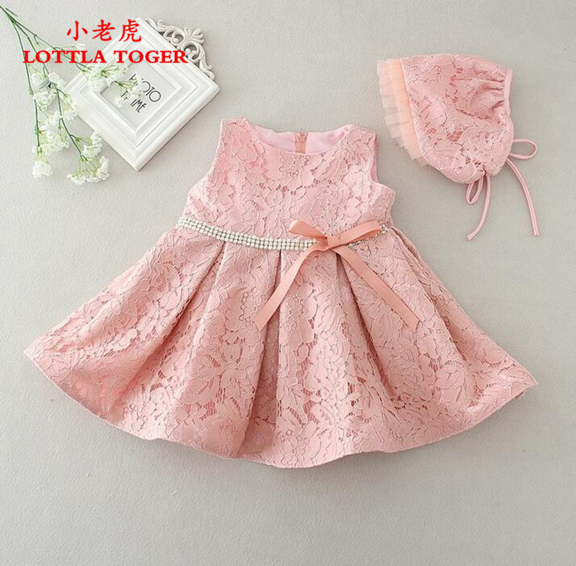 262f87d65 Newest Infant Baby Girl Birthday Party Dresses Baptism Christening Easter  Gown Toddler Princess Lace Flower Dress for 3-24M