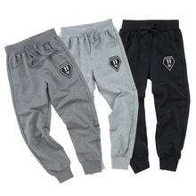 Boys Long Trousers Kids Letter Clothing Elastic Waist Jogger Pant Spring Autumn Boys Sport Pants Cotton Baby Casual Pants