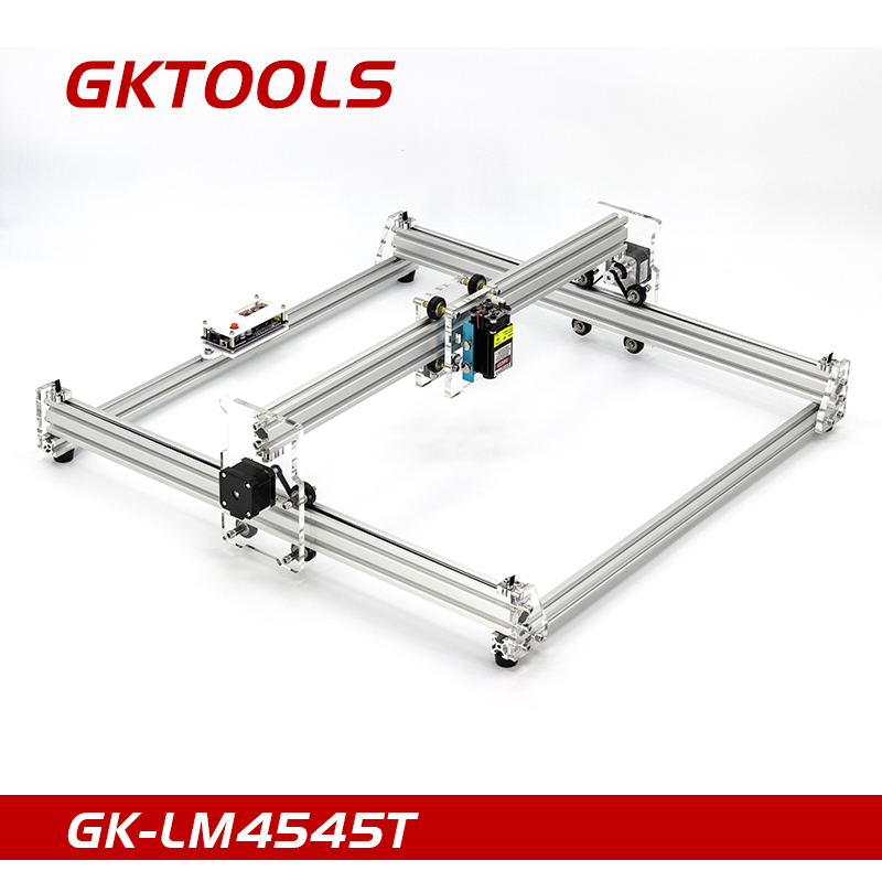 GKTOOLS 500mW,2500mW 45*45cm Mini CNC Wood Laser Engraver Cutter Engraving Machine DIY Acrylic,PWM,Benbox GRBL EleksMaker цена