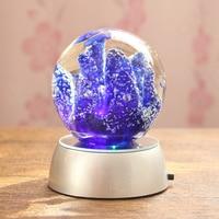Birthday Gift Lighting Luminaria De Mesa Glass Led Night Light 3d Crystal Ball Lamp Desktop Decoration Glass Ball 3d Light