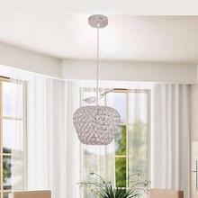 Горячая Хрустальная люстра Светодиодный светильник K9 Высококачественная хрустальная люстра столовая серебряные хрустальные люстры для напряжения 90-260 В