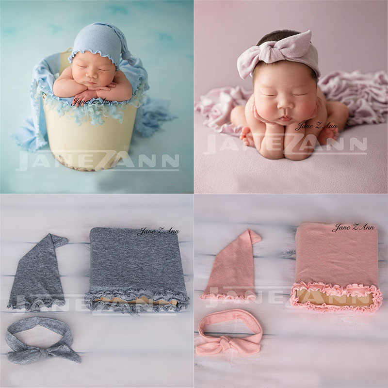 Jane Z Ann Baby Photo Props Newborn Photography Wraps Hat