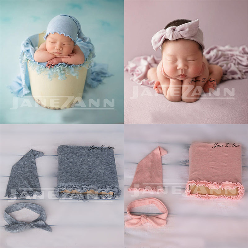 Us 14 57 12 Off Jane Z Ann Baby Photo Props Newborn Photography Wraps Hat Headband Baby Photoshoot Picture Props Diy Baby Album Gift In Hats Caps