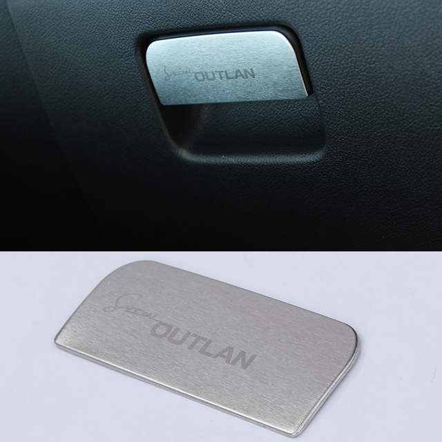 2016 Car Styling Stainless Steel Pannier decoration Sequins  Internal Decoration Cover  For Mitsubishi Outlander 2013-2016