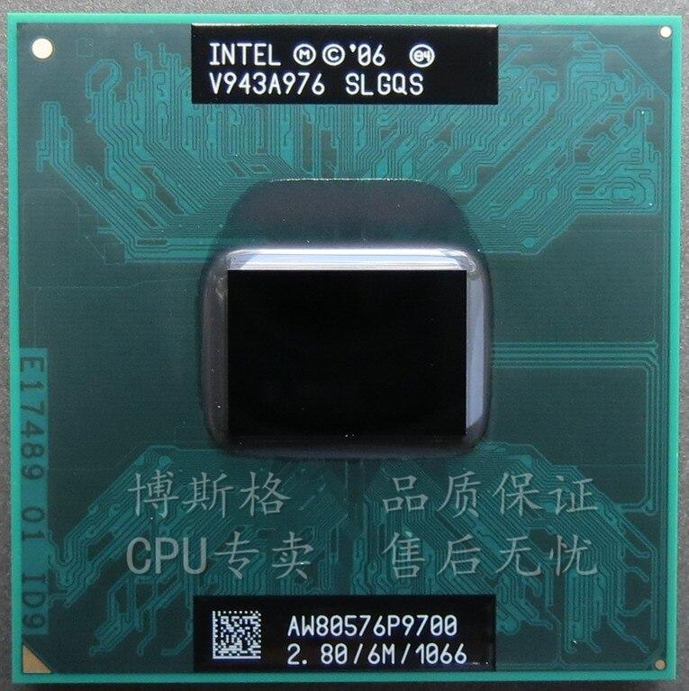 Prix pour Intel Core 2 Duo P9700 SLGQS 2.8 Ghz 6 M 1066 MHz Socket P Mobile CPU Processeur