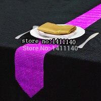 Elegant Diamond Crystal Rhinestone Sparking Table Runner Wedding Party Decoration Favor Free Shipping 12cm X275cm