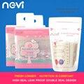 2016 marca bolsas de almacenamiento de leche materna ngvi bpa free baby food Storage180 ML Alta sellado doble diseño del sello de Almacenamiento de Leche Materna bolsa