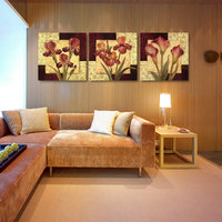 Luxury Elegant 3PCS Canvas Modern Wall Painting Abstract Flowers Home Decoration Art Picture Paint on Canvas Prints Unframed