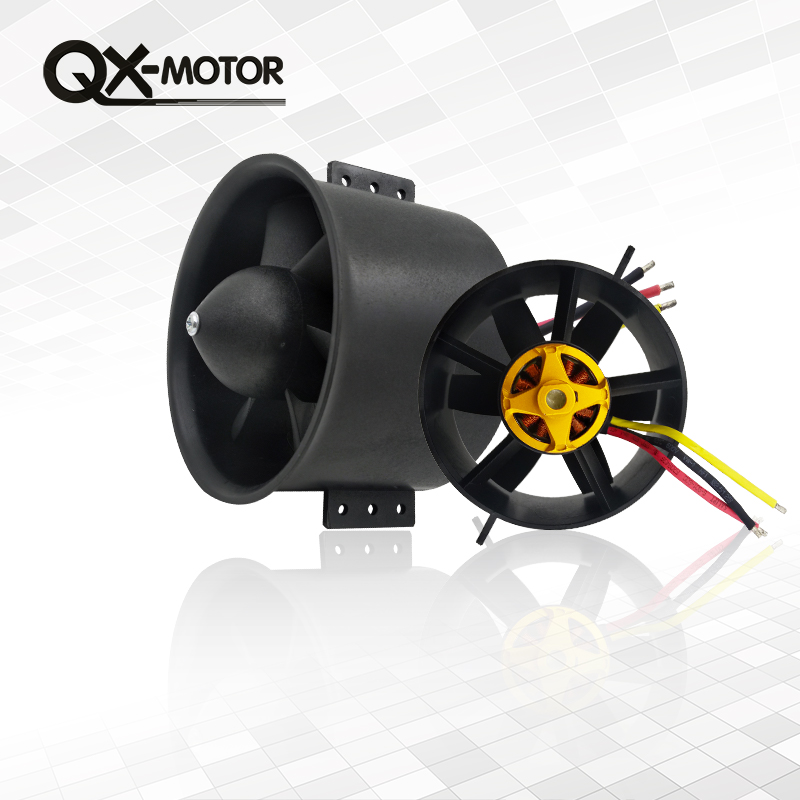 QX-MOTOR 90mm 6 Blades Ducted Fan EDF Unit With 3530 KV1750 Motor and 80A ESC For RC Airplane Model Plane Parts jmt qf2827 3800kv brushless motor 80a for 70mm fan 6 blades edf unit rc airplane qx motor