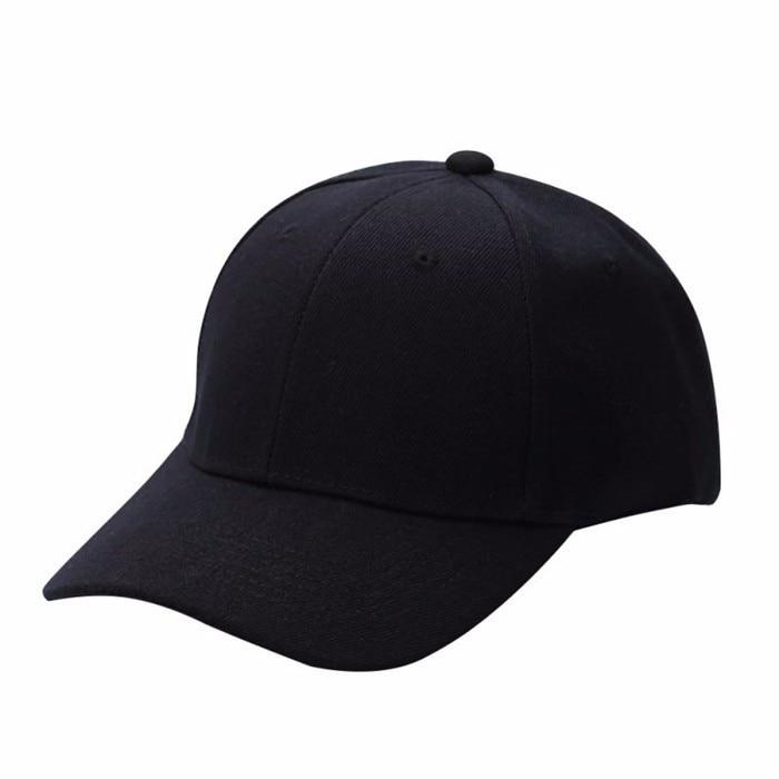Men Women Plain Baseball Cap Unisex Curved Visor Hat Hip-Hop Adjustable Peaked Hat Visor Caps Solid 2018 fashion adjustable men women baseball cap solid hip hop snapback flat hat visor