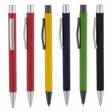 5000 шт./лот металлик Отделка Ручка средства ухода за кожей с прорезиненной поверхностью логотип как рекламный Подарочный металлический шариковые ручки