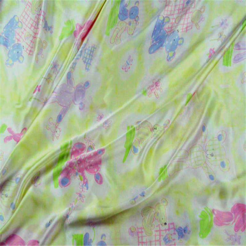 New Free shipping yellow bear 140 width 100% pure silk fabric high quality charmuse silk for beeding set dreess scarf ls1114