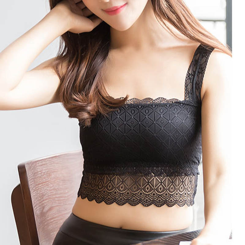 2019 Sexy Women Lace Bralette Bralet Bra Bustier Crop   Top   Floral Comfortable Padded   Tank     Tops   WML99