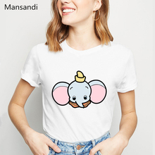 Funny t shirt women summer tops Dumbo t-shirt femme vogue animal print tshirt female harajuku kawaii clothes camiseta mujer