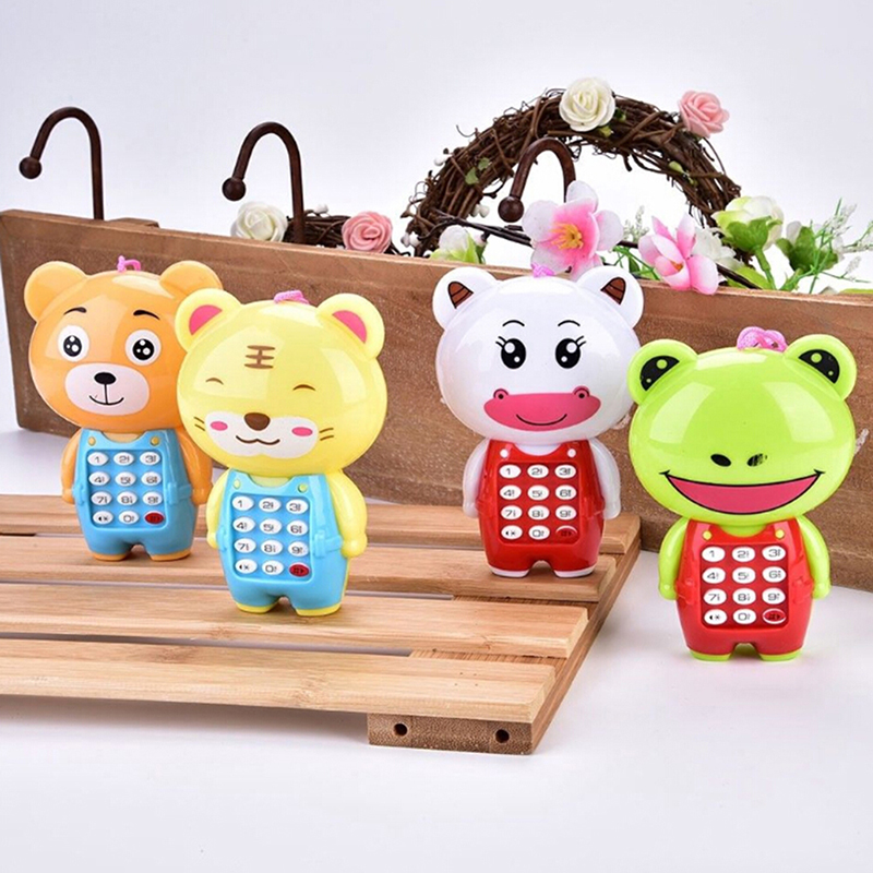 New Educational Learning Baby Toys Phone Children Animals Sounding Vocal Musical Mobile Phone Electronic Toy For Baby Kids