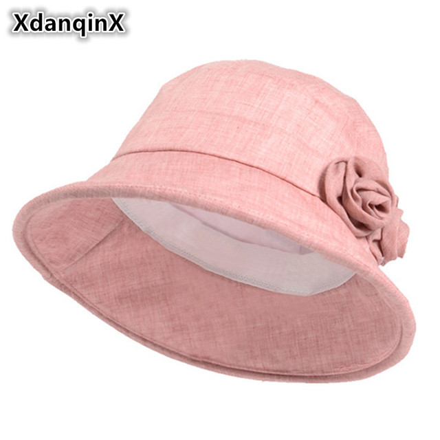 94e58444181 XdanqinX Adult Women s Breathable Summer Hat Women Beach Hats New Style  Foldable Fashion Sun Hat For Female Lace Decoration Cap