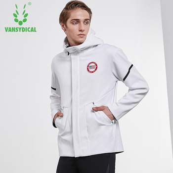 2019 Sports Jacket Autumn Winter Men's High-collar Hooded Windproof Outwear Outdoor Workout Running Sportswear Tops