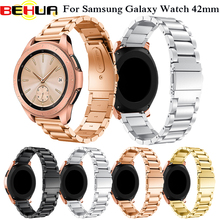 20mm 316L Metal Stainless Steel Band for Samsung Galaxy Watch 42mm Watch Strap Wristband For Samsung Gear Sport S2 Watch Bnads все цены