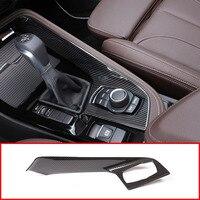 Carbon fiber For BMW X1 f48 2016 2018 Car ABS Plastic Chrome Console Gear Shift Decoration Cover Trim For BMW X2 F47 2018 LHD