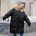 womens winter jackets and coats 2018 <font><b>Parkas</b></font> for women 5 Colors Wadded Jackets warm Outwear With a Hood Large Faux Fur Collar