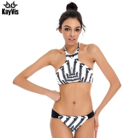 Sexy High Neck Bikinis Women Swimsuit 2016 Summer Beach Wear Swimwear Female Bandage Biquini Bathing Suit