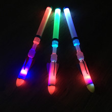1 Piece New Led Flash Ultra Rocket Flying Night Outdoor Toy Sports Kids Boys Party Christmas Toys Gift Random Color