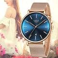 LIGE, женские часы, Роскошные наручные часы, relogio feminino, часы для женщин, Миланская сталь, леди, розовое золото, кварцевые женские часы, новинка + ...