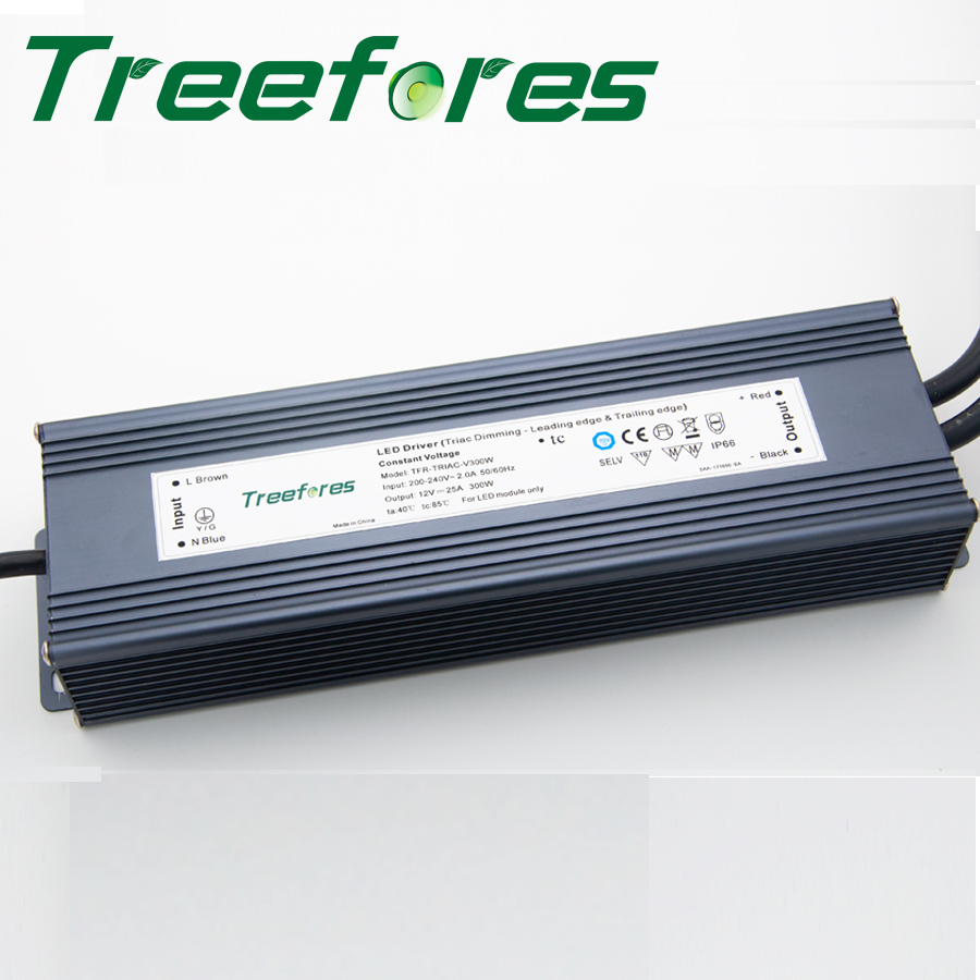 Triac Leading y Trail Edge Dimmable 30W 60W 80W 100W 120W 150W 200W 300W DC 12V 24V Transformador de atenuación LED Driver CE RoHS