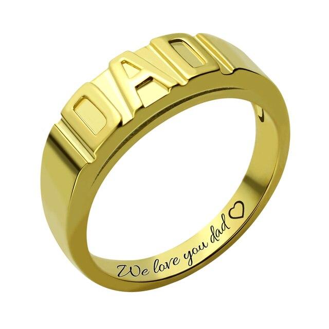 Großhandel Gold Farbe Personalisierte Männer PAPA Ring Handarbeit ...
