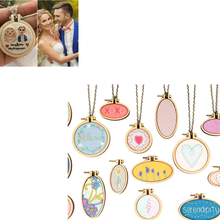 2019 Mini Embroidery Hoop Wooden Embroidery Frame Small Hand Stitching Hoop Cross Framing Hoop Wood Earring DIY Gift(China)