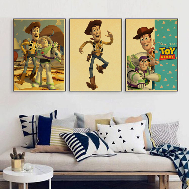 Vintage Posters Toy Story Cartoon Movie Poster Comic Kraft Paper ...
