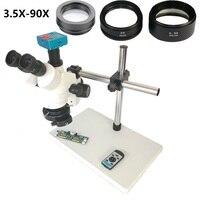 1080 P 30MP HDMI USB C крепление видеокамеры 3.5X 90X simul focal продолжить тринокулярный микроскоп телефон Пайки PCB ремонт инструменты