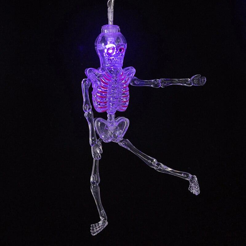 4 Colors Led Light Skeleton Shape Mini Lights LED Halloween Party Decoration4 Colors Led Light Skeleton Shape Mini Lights LED Halloween Party Decoration