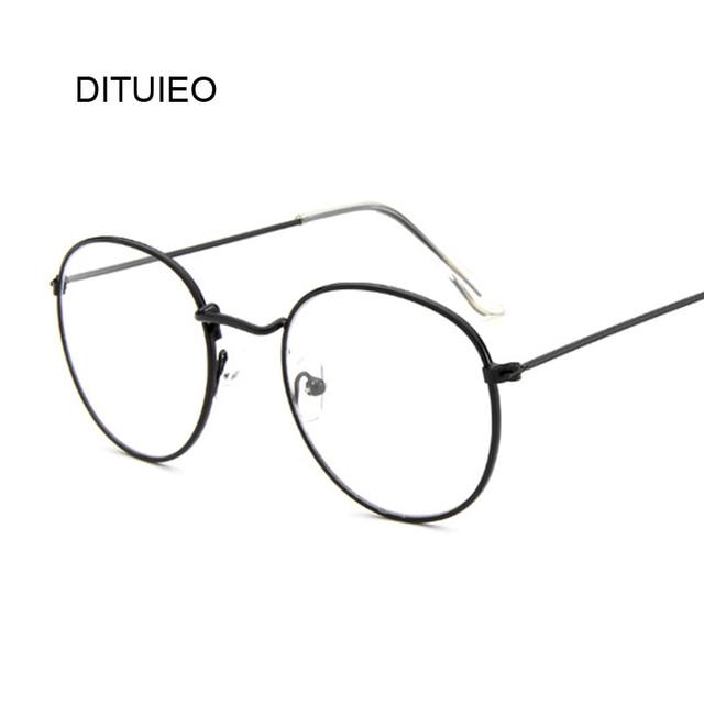 ecdf3052cdde Retro Round Glasses Men Women s Sun Glasses Metal Frame Eyewear Vintage Female  Optics Eyeglasses Clear Lens