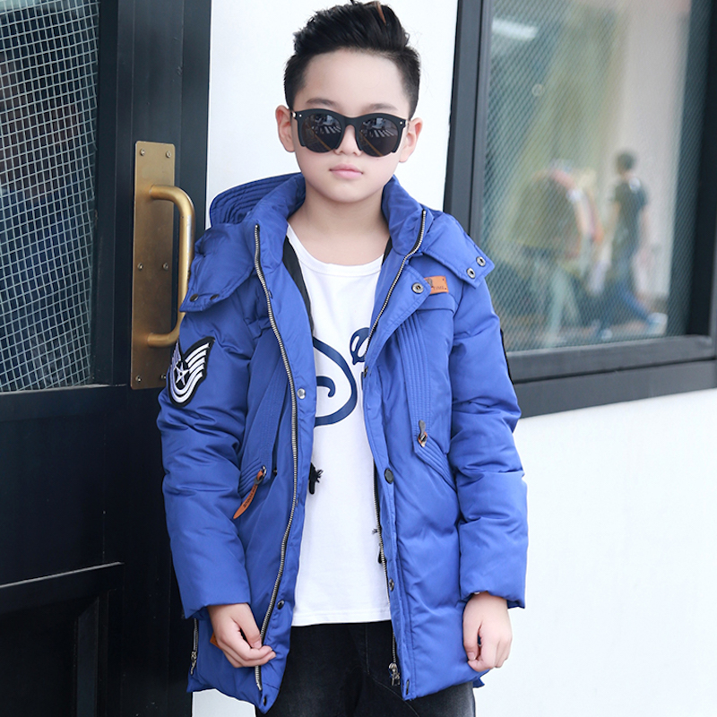 ФОТО 2016 new boys down jacket for boys winter thicken Drawstring hooded thick jacket coats children's coat outerwear parka overcoat