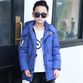 2016 new boys down jacket for boys winter thicken Drawstring hooded thick jacket coats children's coat outerwear parka overcoat