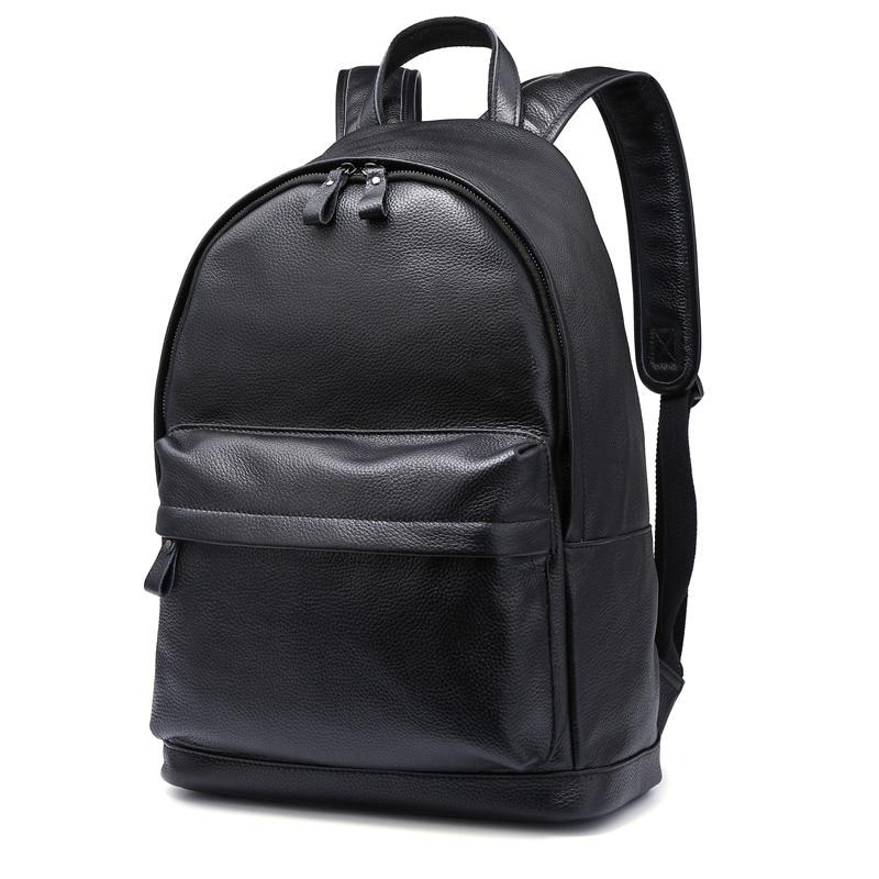 Luggage & Bags Modest Nesitu High Quality Big Black Brown Real Skin Genuine Leather 14 Laptop Women Men Backpacks Cowhide Male Travel Bags M80586