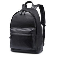 Nesitu High Quality Big Black Brown Real Skin Genuine Leather 14'' Laptop Women Men Backpacks Cowhide Male Travel Bags M80586