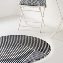 Fashion geometry Round thick carpet Nordic home coffee table blanket Bedroom study chair round computer Printed
