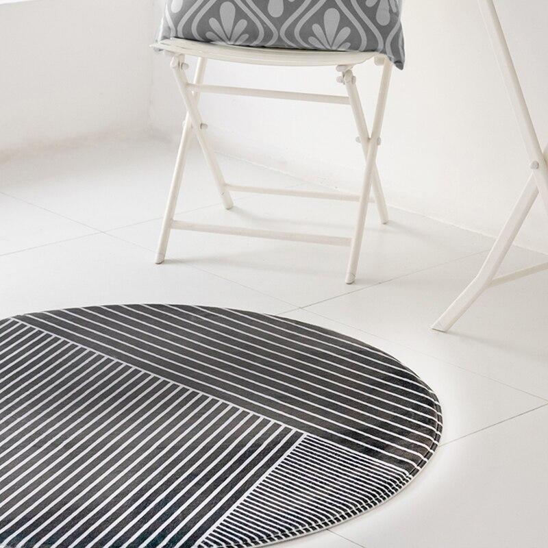 Mode géométrie rond épais tapis nordique maison table basse couverture chambre étude chaise ronde ordinateur chaise imprimé tapis