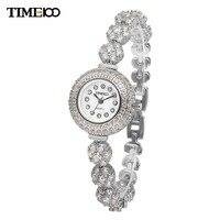 TIME100 Luxury Unique Ladies Alloy Strap Bracelet Watches Diamond Dial Quartz Women Dress Wrist Watch For Women W50343L.01A