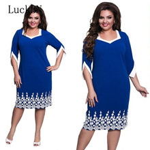 6XL Oversized Dress Women Clothing Office Bodycon Midi Pencil Dress Fashion Square Neck Lace Hook Flower Party Dresses Red Blue 6xl oversized dress women clothing office bodycon midi pencil dress fashion square neck lace hook flower party dresses red blue