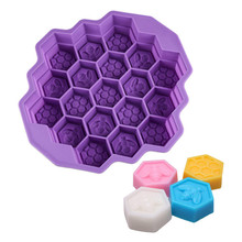Dropshipping Bee Honeycomb Cake Mold Mould Soap Mold Silicone Flexible