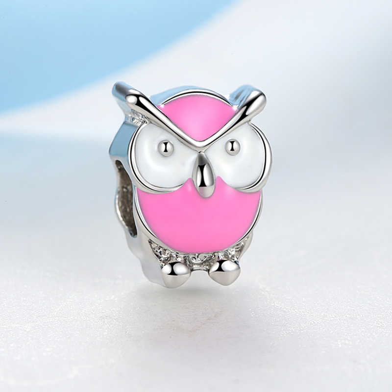 Nowe srebrne pozłacane Charm paciorek emalia jabłko koniczyna na szczęście sukienka zawieszki charms Fit Pandora bransoletki naszyjniki kobiety DIY biżuteria